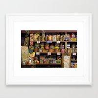 antique shop Framed Art Print