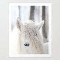 White Horse No. 2 Art Print