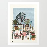 Potted Flowers I Art Print