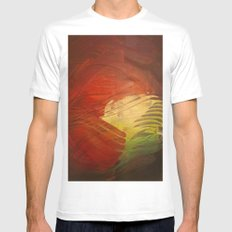 Dusk White Mens Fitted Tee SMALL