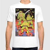 TURTLES FIGHTERS - REVEN… Mens Fitted Tee White SMALL