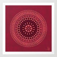 Arabesque Rosette 001 | … Art Print