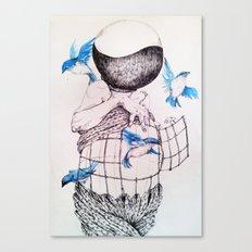 Human flight Canvas Print