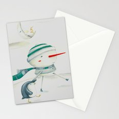 Snowman and friend Stationery Cards