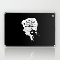 Boy's best friend – Norman Bates Psycho Silhouette Quote Laptop & iPad Skin