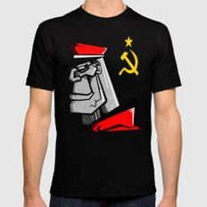 For Russia SMALL Black Mens Fitted Tee