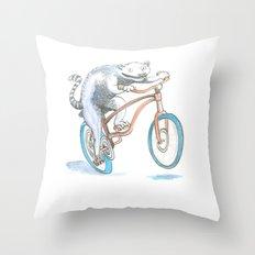 Lemur Screamer  Throw Pillow