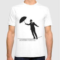 no safety net SMALL White Mens Fitted Tee