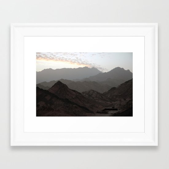 Sinai Mountains, Egypt Framed Art Print