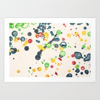 Crayon Love: Splatter Th… Art Print