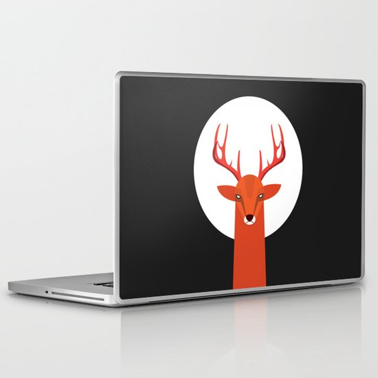 Deer and Moon Laptop & iPad Skin