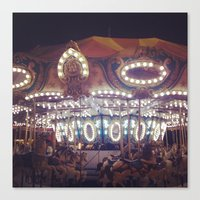 Another Carousel  Canvas Print