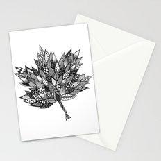 Zentangle Leaf Stationery Cards