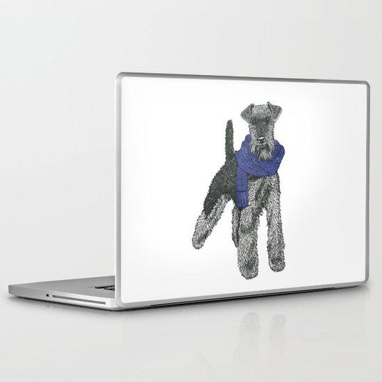 Welsh Terrier, Purple.  Laptop & iPad Skin