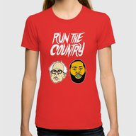 Run The Country Womens Fitted Tee Red SMALL