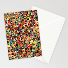 Star Cubes Geometric Art Print. Stationery Cards