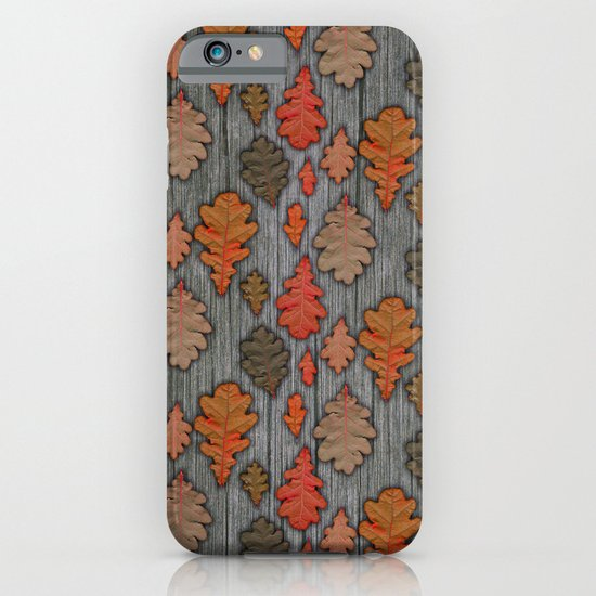 Patterns of Nature - Autumn Oak Leaves iPhone & iPod Case