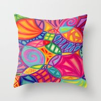 Throw Pillow featuring Lola by Renee Trudell