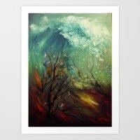 Wellen, die von der Unteren... Art Print