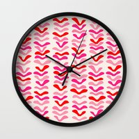 Rhythm Pink Wall Clock