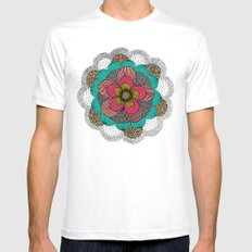 Mandala SMALL Mens Fitted Tee White