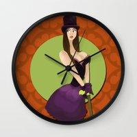 Hat Girl Wall Clock
