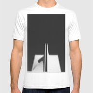 Black And White Mens Fitted Tee White SMALL