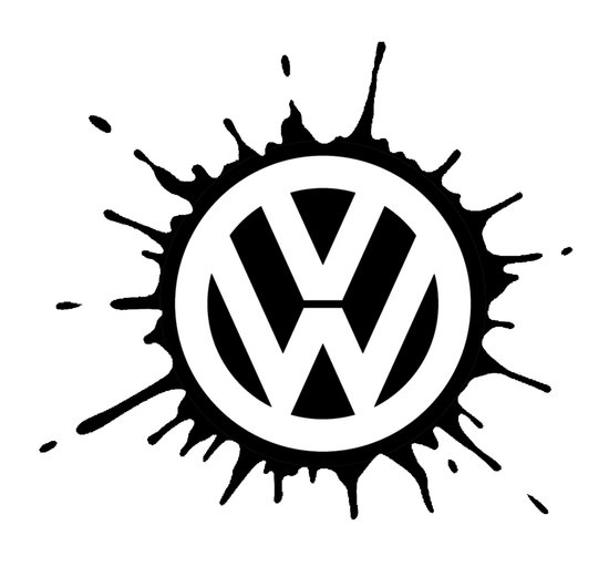 VW splat Art Print