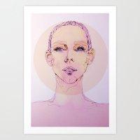 Pink Skin Art Print
