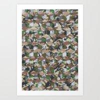 CUBOUFLAGE MULTI (MEDIUM) Art Print