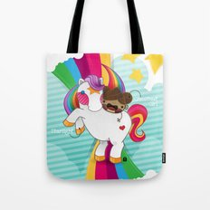 Chestnut Girl And Starlight Tote Bag