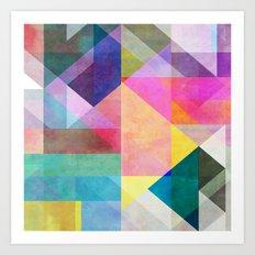 Color Blocking 2 Art Print