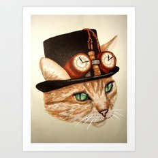 Punk Cat Art Print