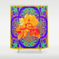 Vibrant Color Yellow-Ora… Shower Curtain