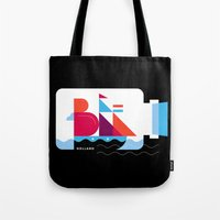 Postcards from Amsterdam / Bottle Ship Tote Bag