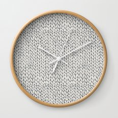 Hand Knit Grey Wall Clock