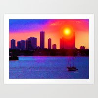 Sunset on the Bay Art Print