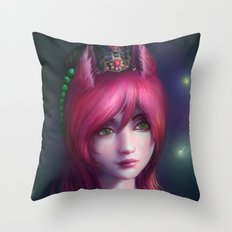 Nine tailed fox  Throw Pillow