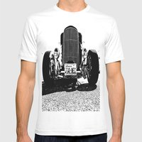American Coupe Mens Fitted Tee White SMALL