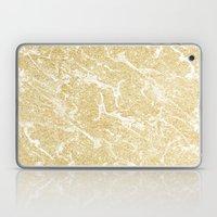 Modern faux gold glitter stylish marble effect Laptop & iPad Skin