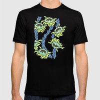 Dancing Protea Mens Fitted Tee Black SMALL