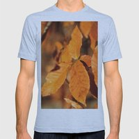 Autumn Leaves Mens Fitted Tee Athletic Blue SMALL