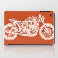 Four wheels transport the body, two wheels move the soul iPad Case