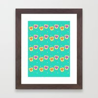 Sweet Lovers - Pattern Framed Art Print