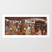 Art Print featuring Friends at the Bar by Alvaro Arteaga