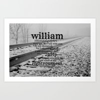 William Determined Prote… Art Print