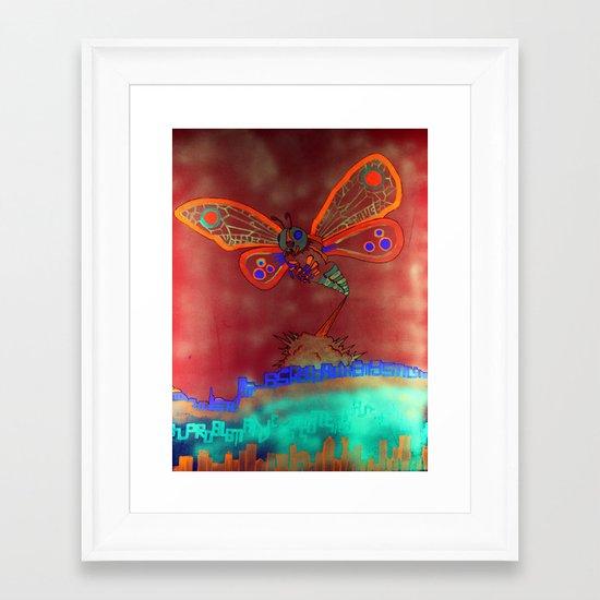 Bad Ash Mothra Funker Full (Wobblesauce) Framed Art Print