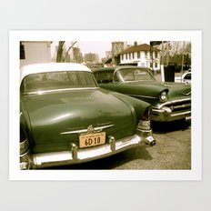 Vintage Cars in Brooklyn Art Print