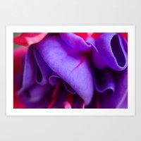 Fabric-Like Fuschia Art Print