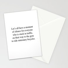 Moment of silence Stationery Cards
